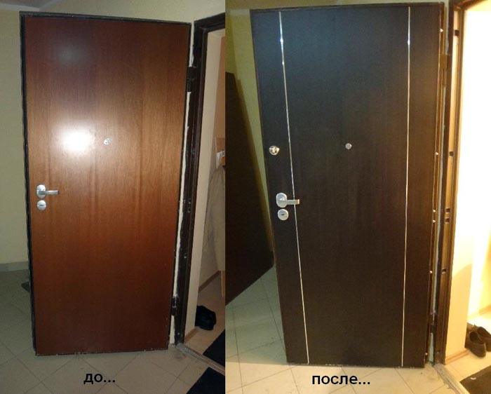 Установка накладки на двери из мдф своими руками